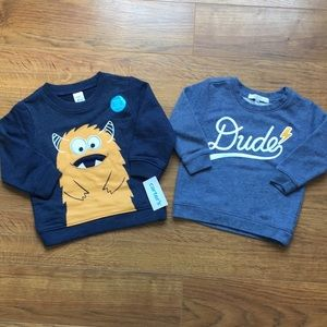 12-18 month sweaters monster and Dude long sleeve